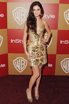 Selena Gomez - Even  though just the after party - my favourite dressed of the Golden Globes