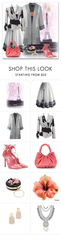 """""""Eiffel Tower"""" by rita257 ❤ liked on Polyvore featuring Chicwish, Lands' End, Emporio Armani, Jimmy Choo, Nancy Gonzalez, Lizzie Fortunato and Lucky Brand"""