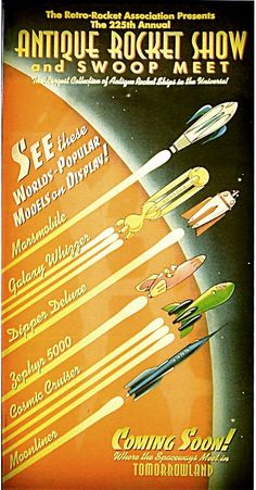 Tomorrowland - Antique Rocket Show poster!
