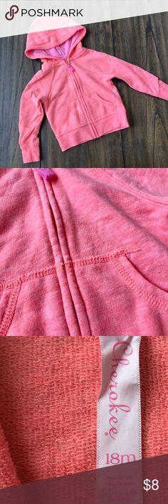 Cherokee - Baby Hoodie - Orange/Pink - 18 Months EUC - TTS Cherokee Jackets & Coats