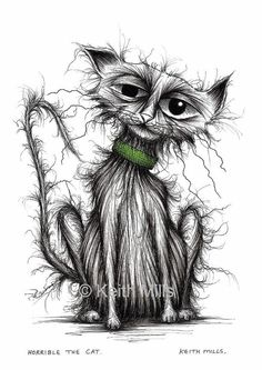 Horrible the cat Print download Shabby mucky tatty by KeithMills