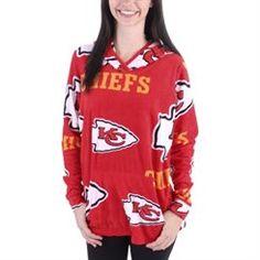 f79f1ae33a8 Kansas City Chiefs Women s Red Ramble Microfleece Pullover Hoodie Nfl Kansas  City Chiefs