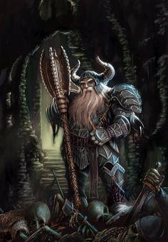 Classificação de relevância 2 _____________________________ Palavras-chave: Fantasia medieval, guerreiro, armadura épica, rei anão. _____________________________ A imagem retrata um clássico personagem de fantasia medieval o anão guerreiro, em toda sua rusticidade e rudeza lutando para defender o domínio subterrâneo de sua raça.  _____________________________ www.deviantart.com/