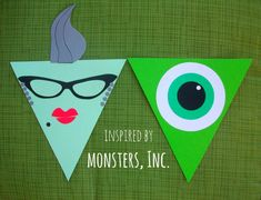 MONSTERS INC. by LaPetiteLizard on Etsy, $5.50