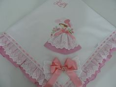 Manta de Piquet Boneca Rosa