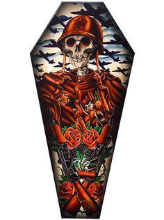 """""""Motherland"""" Coffin Canvas by Black Market Art - www.inkedshop.com#inked #inkedmag #inkedgirls #inkedguys #inkedart #motherland #coffincanvas #canvas #blackmarketart #artsy #artwork #dope"""