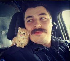 Not to mention a new partner in fighting crime. | This Cop Rescued A Kitten Left In The Rain And Now They're A Crime-Fighting Duo