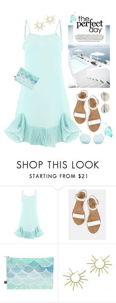 """""""Perfect Sunny Day"""" by shortyluv718 ❤ liked on Polyvore featuring DENY Designs, VANINA, La Perla, sandals, summerstyle, sunnies, graphicclutch and summerbrights"""