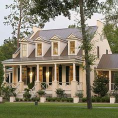 "Plan on Southern Living ""Eastover Cottage"" - traditional - exterior - charleston - WaterMark Coastal Homes, LLC Southern Homes, Coastal Homes, Southern Charm, Coastal Living, Southern Cottage, Nantucket Cottage, Southern Farmhouse, Southern Porches, Country Charm"