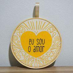 """Quadrinho """"Eu sou o amor"""" - Passarinho Atelier"""