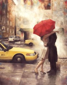 painting red umbrella - Buscar con Google