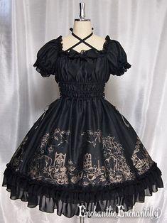 Gothic Cake&AfterTea Partyワンピース (black x gold) - Enchantlic Enchantilly
