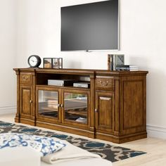 Canora Grey You will discover something unexpected with this Tynecastle TV Stand for TVs up to . It has a blend of different colours, textures and materials. Wood Table Bases, Solid Wood Table Tops, Solid Wood Dining Set, Hooker Furniture, Living Room Furniture, Antique Furniture, Living Room Sets, Entertainment Center, Adjustable Shelving