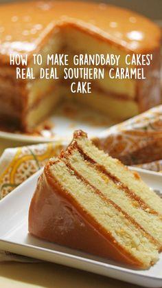 Southern Caramel Cake, Southern Desserts, Just Desserts, Desserts Caramel, Holiday Desserts, Southern Recipes, Caramel Recipes, Caramel Candy, Spring Desserts