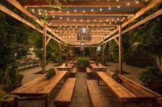 Outdoor Restaurant Design, Deco Restaurant, Restaurant Lighting, Cafe Shop Design, Restaurant Interior Design, Parc Floral, Philadelphia, Design Jardin, Outdoor Cafe