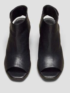 Madeleine Open-Toe Heel, BLACK
