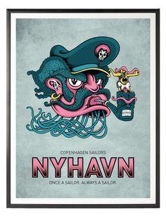 Nyhavn IIII – copenhagen poster  only $40 Free shipping
