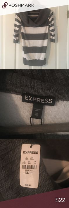 Expressed Stripped Sweater.  NWT Expressed Stripped Sweater.  NWT.  Never worn, excellent condition Express Sweaters Crew & Scoop Necks