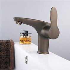 mitigeur finition laiton antique Centerset robinet salle de bain lavabo