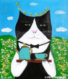 """pepeart : """"Garden Garcon Cat """""""