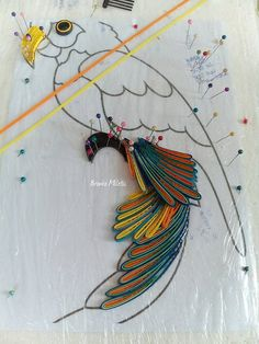 procedure, quilling parrot, Branka Miletić!