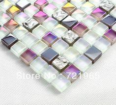 Stainless steel mosaic glass mosaic kitchen backsplash tile SSMT011 silver plating glass mosaic bathroom tiles glass mosaics