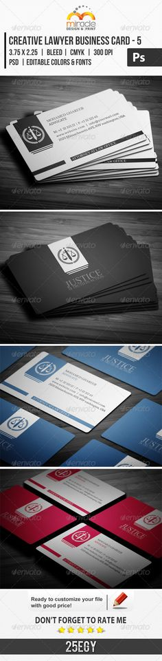 Creative Lawyer Business Card Template #design #print Download: http://graphicriver.net/item/creative-lawyer-business-card-5/6947332?ref=ksioks