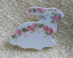 Roses China Bunny Pin | Roses And Teacups