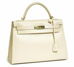 Hermes-Ivory-Leather-Kelly-Bag
