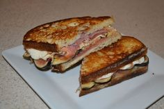 Fig and prosciutto grilled cheese