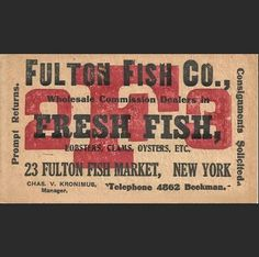20's Business Card 23 Fulton
