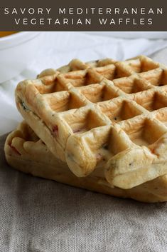 I came up with this recipe because I needed something quick and easy to have with my soup. I believe it is also perfect for someone looking for savory breakfast ideas! So, there you have it: savory vegetarian Mediterranean waffles you can have with your soup or for breakfast! Or however you want, have them for dessert, I won't judge you! #savorywaffles #savorybreakfast #vegetarianrecipe Savory Waffles, Savory Breakfast, Breakfast Ideas, Waffle Iron, Waffle Recipes, Vegetarian Recipes, Soup, Stuffed Peppers, Snacks