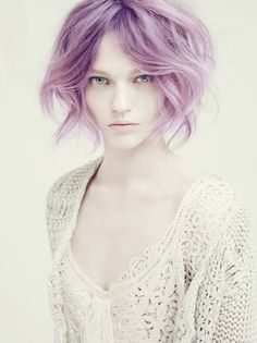 Character Inspiration #Story #Character  (Woke Up Hair! Purple Pastel Hair Short Bob Fashion Makeup Trend Summer 2014 ourvanity.com)