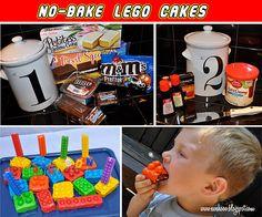 No Bake Lego Cakes