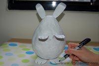 Step 9 Papier Mache Bunny