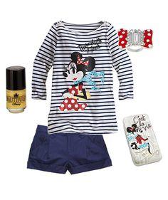 Disney Style Snapshots: Vive La France « Disney Parks Blog. Stripes and navy shorts.