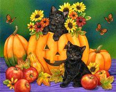 Jane Maday ~ Halloween kittens