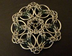 Celtic Triskele Mandala by Catherine Hamilton #chainmaille