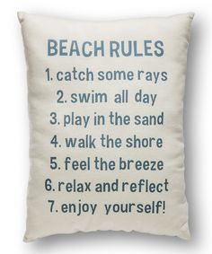 'Beach Rules' Throw Pillow | something special every day
