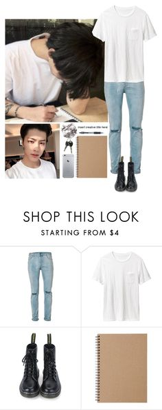 """""""Wonsik 《 Composing with Yujin 》"""" by ace-official ❤ liked on Polyvore featuring Topman, Old Navy, Muji, men's fashion and menswear"""
