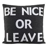 Found it at AllModern - House Rules Be Nice or Leave Felt Throw Pillow