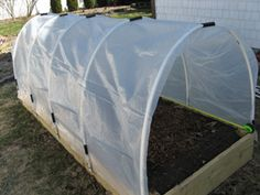 Back Yard Gardening:  How to Build a Hoop House for Frost Protection