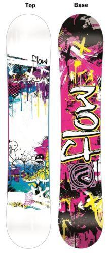 New Flow Micron Velvet 135 Girls Junior Rocker Snowboard + Burton 2013 Msrp$449