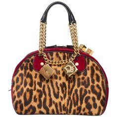 Preowned John Galliano Christian Dior Leopard Velvet Gambler Handbag,... ($1,200) ❤ liked on Polyvore featuring bags, handbags, brown, top handle bags, brown handbags, brown hand bags, white hand bags and leopard print handbags