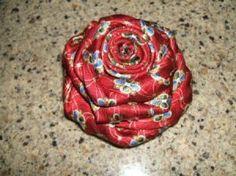Men's silk rose tie pin