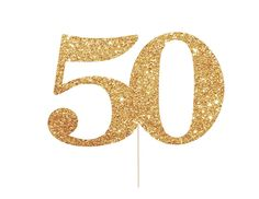 Posh Party Bistro's 50 cake topper is the perfect birthday 50th birthday decoration. It can be used to adorn a cake for a 50th birthday party, 50th wedding anniversary, or 50th Reunion. Some of our cu