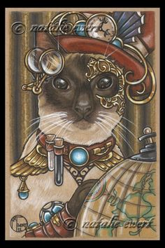 ZsaZsa The SteamPunk Cat by natamon on DeviantArt