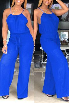 Lovely Euramerican Loose Blue One-piece Jumpsuit Comfort clothing for women staying at home. New arrival fashion clothing. 2020 newest clothing. Shop now fast shipping. Denim Bomber Jacket, Denim Coat, Blue One Piece, Plus Size One Piece, Moda Afro, Chic Outfits, Fashion Outfits, Jumpsuit With Sleeves, Denim Jumpsuit