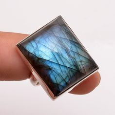 925 Sterling Silver Ring US Size 7, Natural Labradorite Silver Jewelry R2751 #Handmade #Fashion