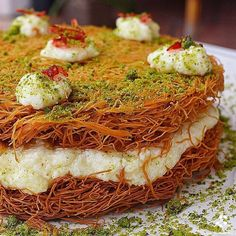 How about we go back and visit a traditional Lebanese dessert: a crunchy yet smooth and sweet bite thinly vermicelli like noodles (aka… Arabic Dessert, Arabic Sweets, Arabic Food, Lebanese Desserts, Lebanese Recipes, Food Photography Styling, Food Styling, Homemade Sweets, Middle Eastern Recipes